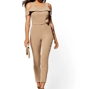 NEW  New York & Co Size S Brown Tan Jumpsuit